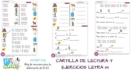 cartilla recursosep letra m cartilla de lectura imprenta letra m lectoescritura con letra lectura y letras