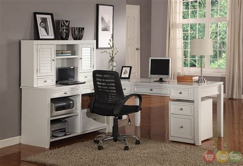 boca transitional white modular office furniture l shaped