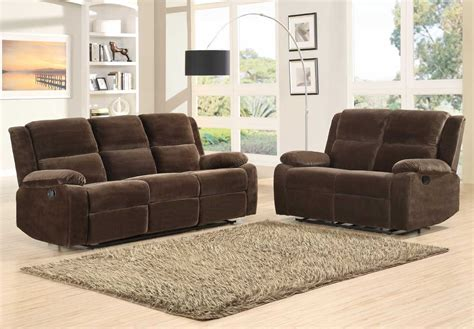 Microfiber Reclining Sofa Sets by Homelegance Snyder Reclining Sofa Set Coffee Microfiber