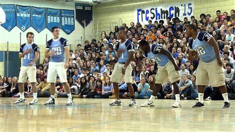 ocasio cortez yorktown high school yorktown high school pep rally 2011 football team dance