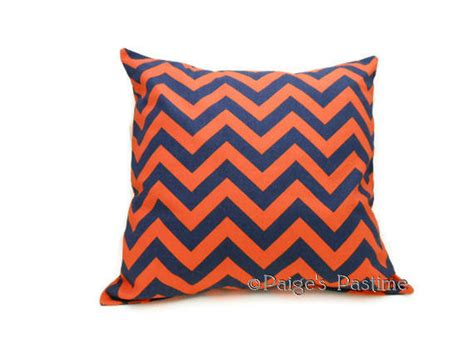 Orange And Blue Pillows by Decorative Pillow Blue And Orange Pillow Chevron Pillow