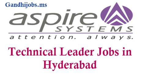 pattern making jobs in hyderabad technical leader aspire systems india p ltd