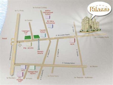 jakarta pusat map apartemen dijual apartemen grand palace kemayoran