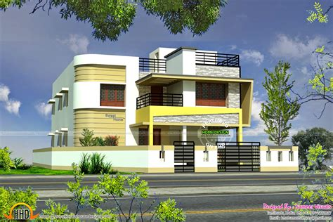 home design in tamilnadu style tamilnadu style modern house design kerala home design