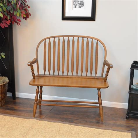 oak bench carolina cottage windsor oak bench 42 ao the home depot