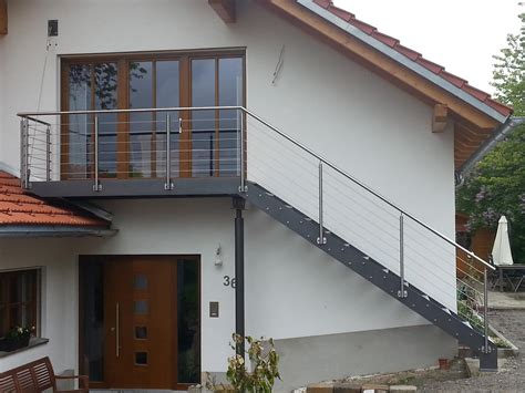 Treppengeländer Stahl Bausatz by Stahltreppe Au 223 En Mit Podest Dorn Sch Rner Gmbh Au