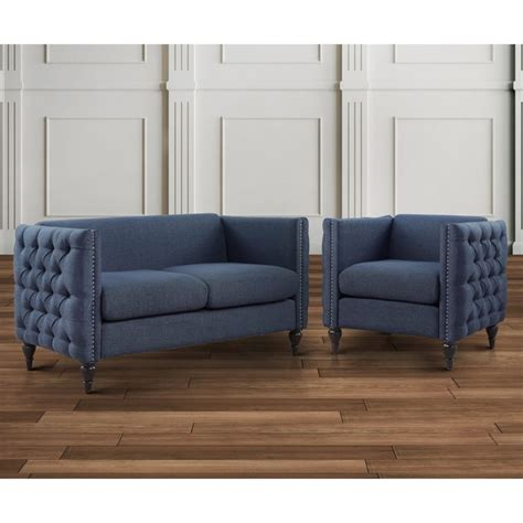 Tufted Set Furniture Of America Bently Tufted 2 Seat Set