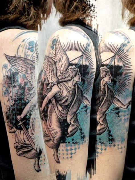 angel tattoo piercing 17 best images about religious tattoos on pinterest