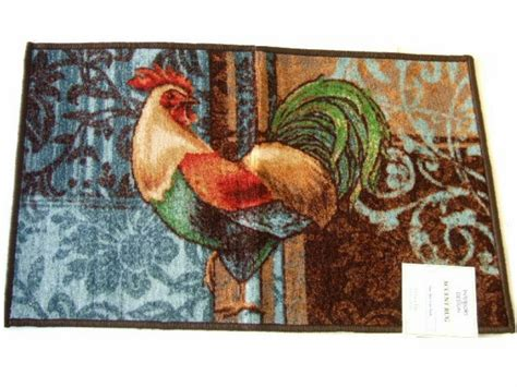 rooster kitchen rug rooster kitchen rug blue brown