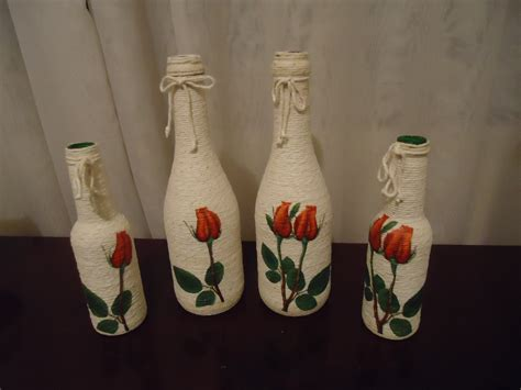 garrafas decoradas home garrafas decorada barbante coisas para comprar