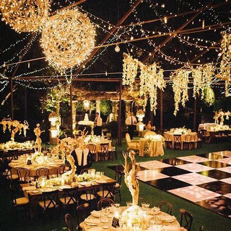 romantic  whimsical wedding lighting ideas deer