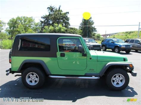 Lime Green Jeep Wrangler For Sale 2004 Jeep Wrangler Unlimited 4x4 In Electric Lime Green
