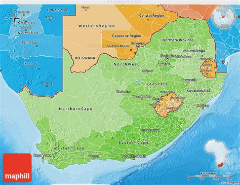 africa map 3d political shades 3d map of south africa