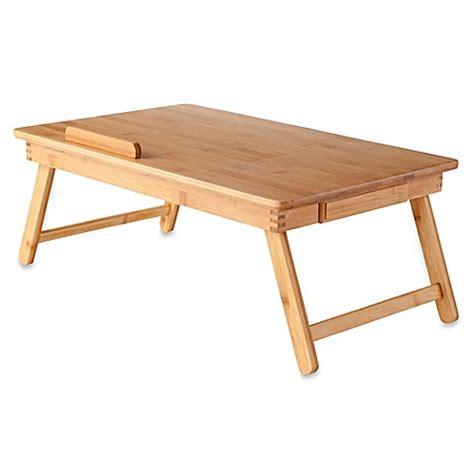 bamboo laptop desk baldwin bamboo desk in bed bath beyond