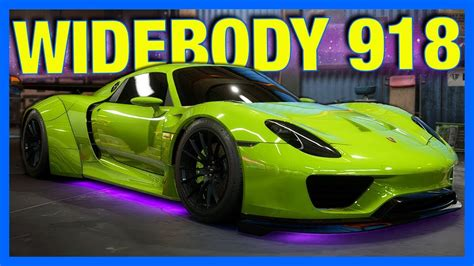 widebody porsche 918 need for speed payback customization widebody porsche