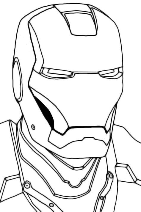 imagenes para dibujar de iron man mascara de iron man para colorear y pintar colorea el
