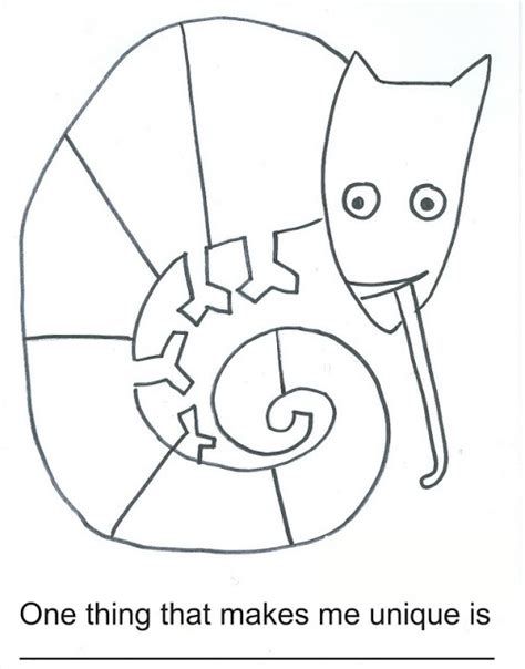 here s a worksheet for the mixed up chameleon eric carle