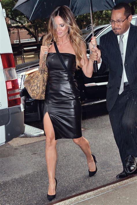 heidi klum   nyc leather celebrities