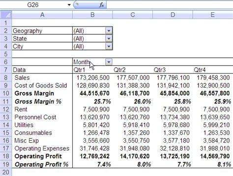 p l report template quarterly half yearly profit loss reports in excel part