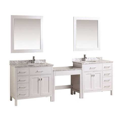 Vanity 6 Make Up by Design Element Two 36 Quot Single Sink Vanity W Make Up Table White Dec076d W Dec076d L W