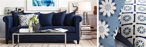 indigo home decor color trend indigo home decor crate and barrel