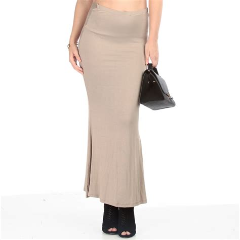 back tie knot maxi skirt