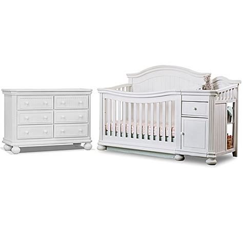 sorelle crib and changer sorelle finley crib and changer collection in white