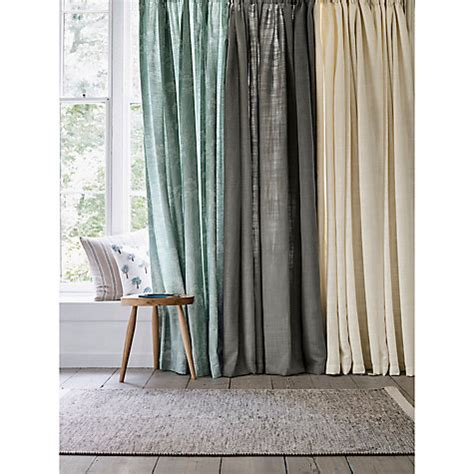 lined linen curtains buy john lewis linen blend lined pencil pleat curtains
