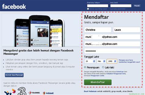 buat akun facebook indonesia cara daftar facebook baru gratis buat akun fb baru cuma
