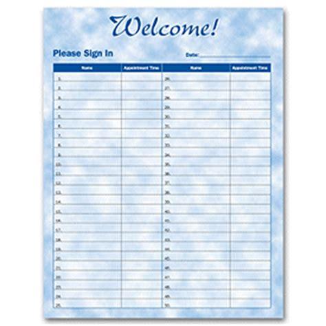 standard meeting sign  sheet  word