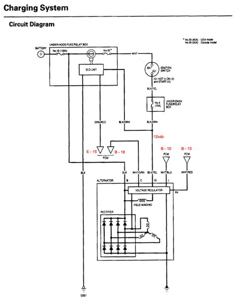 charging alternator wiring diagram alternator charging