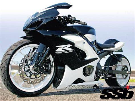 Suzuki Gsxr White Streetbike Gsxr Suzuki White Black Custom