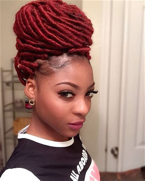 how to achieve the perfect bun with faux locs voice of hair