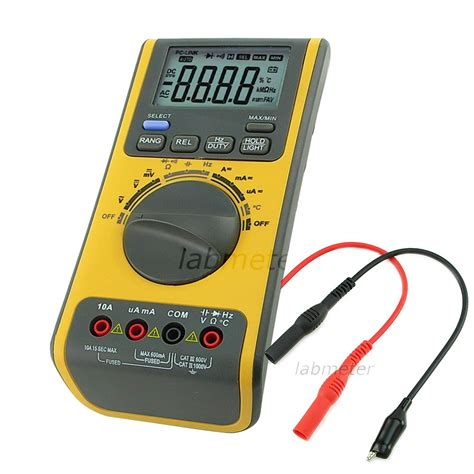 Multimeter Digital Digital Multimeter Voltmeter Thermometer Ohm Usb Cd