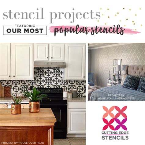 most popular home decorating blogs stencil projects featuring our most popular stencils