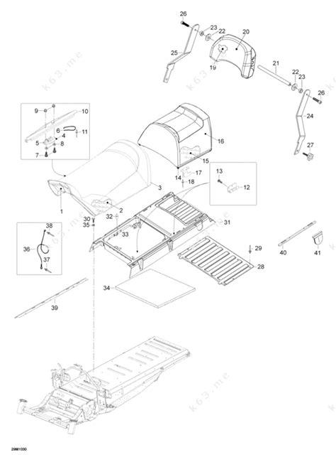 skidoo parts diagram ski doo 2010 skandic wt 550f seat parts catalog