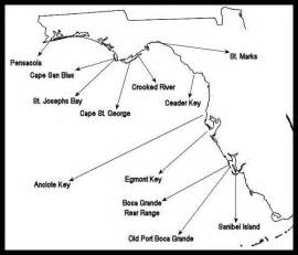 west coast florida map for lighthouses home sweet
