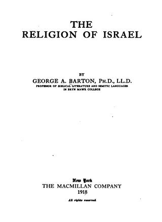 The Religion of Israel Pdf Download