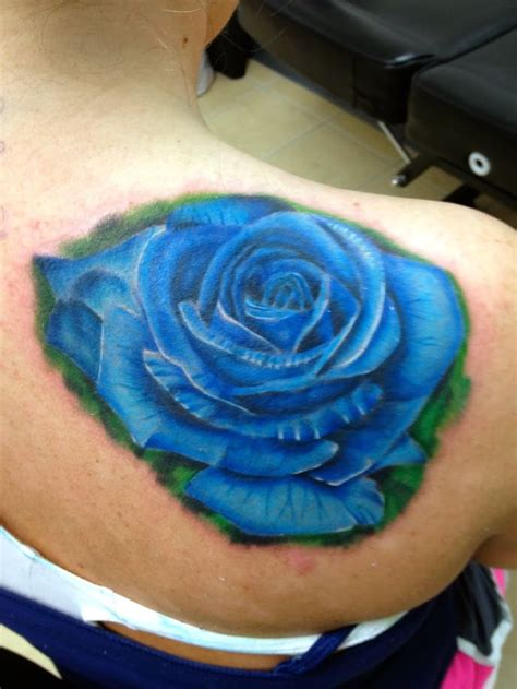 blue rose tattoos 25 best blue tattoos trending ideas on
