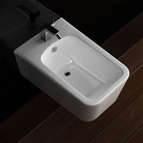 bidet de salle de bain bidet suspendu tozza blanc