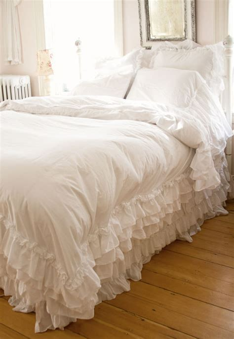 shabby chic white bedding shabby chic ruffle duvet cover salt life blog