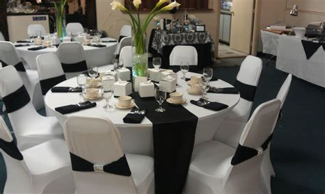 black and white wedding decor decoration