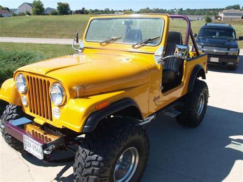 jeep cj7 parts purchase used 1980 jeep cj7 custom chevy engine