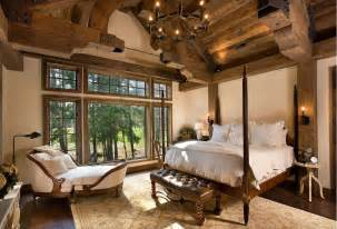 cabin style bedroom rustic bedrooms design ideas canadian log homes
