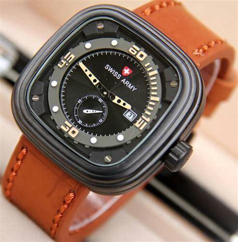 desain gambar jam tangan jual jam tangan swiss army p1 chrono detik tali kulit