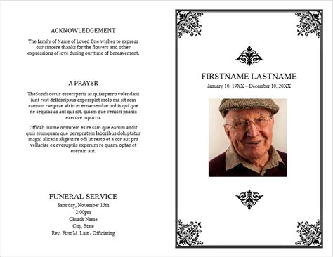 funeral brochure template 12 free funeral brochure templates bates on design