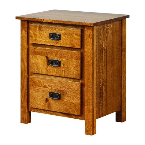 dutch country mission nightstand amish crafted furniture