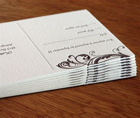 Thick Paper Wedding Invitations by Thick Paper For Letterpress Wedding Invitations