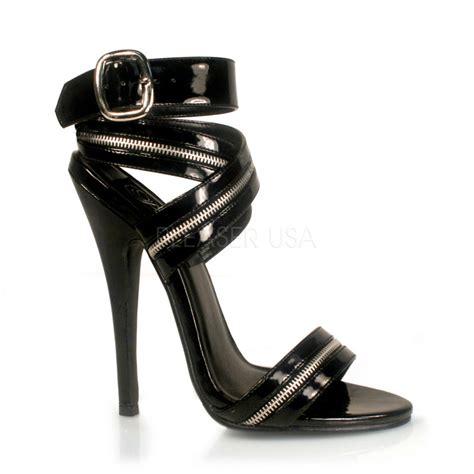 black patent high heel sandals black patent zipper wrap around sandal heel high heels