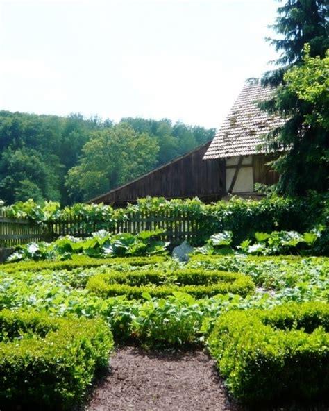 lovely german farm garden outdoors